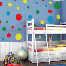 44 SPOTS DOTS wall nursery bedroom stickers ANY COLOUR