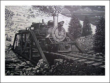 ENGINE 44 ON THE GEORGETOWN LOOP signed lithograph  by Richard R. Nervig