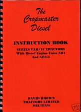David Brown Cropmaster Tractor Instruction Manual Book