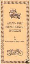 Werbeprospekt, Auto- und Motorrad-Museen in der BRD, 1975