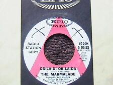 """THE MARMALADE """"OB-LA-DI OB-LA-LA"""" / """"CHAINS"""" 7"""" WHITE LABEL PROMO 45"""
