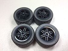 LEGO Black Wheels 30.4mm X 20mm Authentic 43.2x22 ZR Tires VR