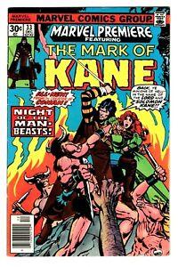 MARVEL PREMIERE #33 (VF/NM) SOLOMON KANE! by Creator of Conan - Robert E Howard