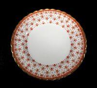 Beautiful Spode Fleur De Lys Red, Gold Trim Dinner Plate