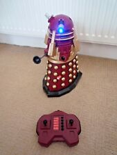 """DOCTOR WHO RADIO CONTROLLED RED 13"""" DALEK SUPREME LEADER WITH LIGHT & SOUNDS"""