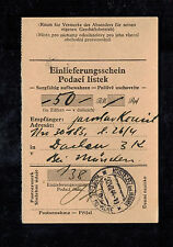 1944 Kosteletz Germany Dachau Concentration Camp money order Receipt KZ