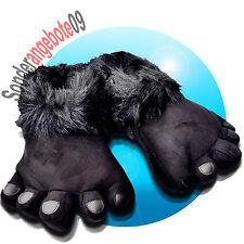 Tier Hausschuhe MONSTER Gorilla Big schwarz 41 - 46 Schlappen Fuß Foot Schuh