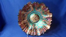 """OLD Fenton ~~ Feathered Serpent ~~ Amethyst/Purple ~~ 3-in-1 Bowl, 9-1/2"""""""