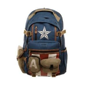 The Avengers Captain America Backpack School Shoulder Bag Travel Backpack