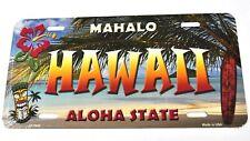 USA Hawaii Mahalo Aloha State Nummernschild License Plate Deko Blechschild