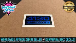 4130 CHROMOLY BMX Seat Post Decal Sticker - Factory Correct Magician Bravo Haro
