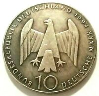 10 MARK 1994 - GERMANY GERMAN RESISTANCE - SOUVENIR COIN MADE OF SILVERED METAL