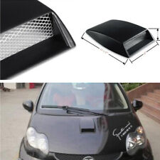 Car Hood Air Flow Intake Vent Scoop Decorative Cover Self-adhesive Sticker Black