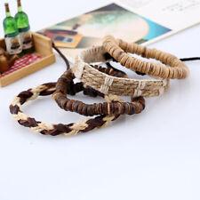 Bohemia Leather Bracelet Coconut Shell Beads Bangle Vintage Men Women Wristband