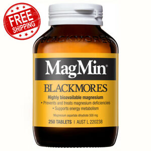 Blackmores Magmin Highly Bioavailable Magnesium Energy Metabolism 250 Tablets