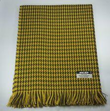 New Women Scarf Lady Wrap Winter Shawl Houndstooth Tassel Yellow Black Scarf MIT