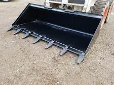 """BRAND NEW 66"""" TOOTH BUCKET POWDER COATED FOR SKID STEER LOADER - FREE SHIPPING"""