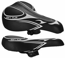 Sillines negro acero para bicicletas