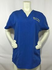 Dickies Nurses Scrub Top Blue Chipola College L 10/12 Yellow Nursing Student