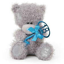 "CARTE Blanche Me to You Tatty Teddy Bear Holding 18th Birthday Key 7"" 18cm"