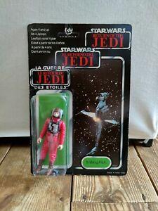 Star Wars Original Palitoy B-Wing Pilot Figure On 79 Back Card.