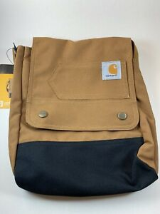 CARHARTT LEGACY Classic Brown Adjustable Straps CROSSBODY Pockets Authentic NEW