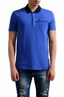 NEW Versace Collection Mens Polo Casual Shirt Large Gray Blue $310.00