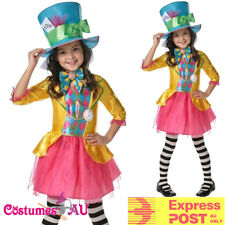Disney Mad Hatter Costume Alice Wonderland Book Week Parade Girl Party Dress 6