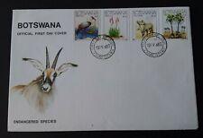 Botswana 1983 SG:541/44 Endangered Species FDC