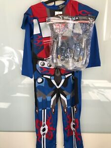 BNWT TRANSFORMERS OPTIMUS PRIME OUTFIT DRESS UP WITH MASK 5-6 YEARS