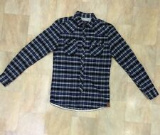 Mens Soul Cal Long Sleeve Checked Flannel Cotton Shirt Size S