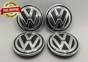 4x 6C0601171 VW Volkswagen 55mm Golf R Polo Passat Wheel Center Caps