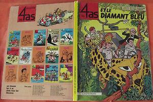 Ancien album BD les 4 As et le diamant bleu 1984