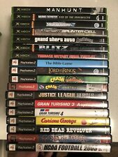 Original Xbox And PS2 18 Game Lot