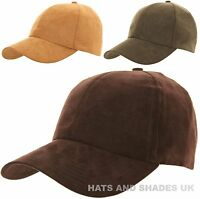 Baseball Hat Cap Suede look Brown Green Hunting Fishing Country Mens Ladies