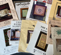 Lot of 11 Cross Stitch Charts patterns Alphabet ABC All Sampler Lot 20+ projects