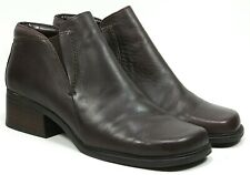"Markon ""Queen"" Ankle Boots Size 8 Women's Brown Leather Shoes Slip On"