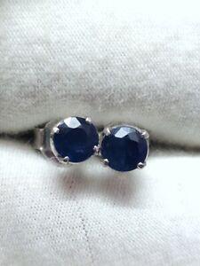 Blue Sapphire Stud Earrings 0.70 ct sapphire Earstuds Genuine sapphire Ear studs