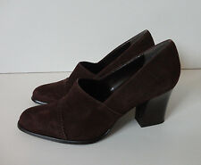 BANDOLINO {Size 7M} Women's Brown Leather Made in Brazil Bootie High Heel Shoes