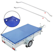 Anhänger Flachplane Blau Gummigurt  2575 x 1345 x 50mm inkl 2x Flachplanenbügel