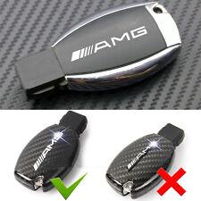 4 Pcs Car Alloy Key Fob Mirror Chrome Silver AMG Badge Sticker For Mercedes Benz