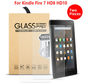 2PC Tempered Glass Film Screen Protector Amazon Kindle FIRE HD 8 Plus 2020 7 10