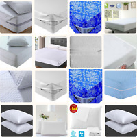 Zipped Mattress Cover Protector Diamond Anti Bed Bug Protect Total Encasement