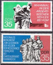 DDR Mi.-Nr. 1981-1982 postfrisch Internationale Mahn- u. Gedenkstätten