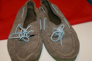 SPERRY TOP SIDER 105098 10 MEN'S GREY SUEDE LOAFERS SIZE 11.5 M