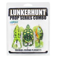 Lunkerhunt 3-Piece Prop Turtle Combo Propfish Sunfish & Prop Frog Bass Lures