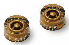 Gold Aged Speed Knobs Gibson Type Greenish Underside Montreux Retrovibe