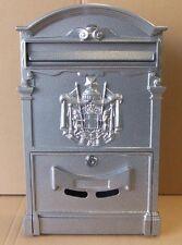 Briefkastenfabrik Wand Briefkasten Nostalgie Postkasten Alubriefkasten Grau K