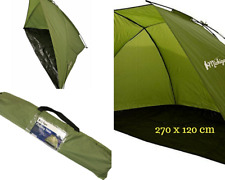 270/120 cm 2-3 Person Fishing Bivvy Shelter Beach Olive Green Sea Angling Tent
