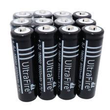 12X 18650 6000mAh Li-ion Rechargeable Battery for led Flashlight Fish Hike Camp